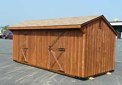 One stall horse barn w/ tack room, stained
