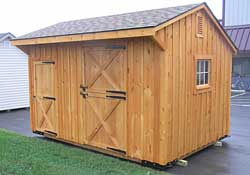One stall horse barn w/ tack room. Natural w/ water sealer