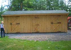 Two stall horse barn w/ tack room & water sealer