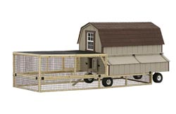 DCW48-4x8 Dutch coop on wheels w/cage