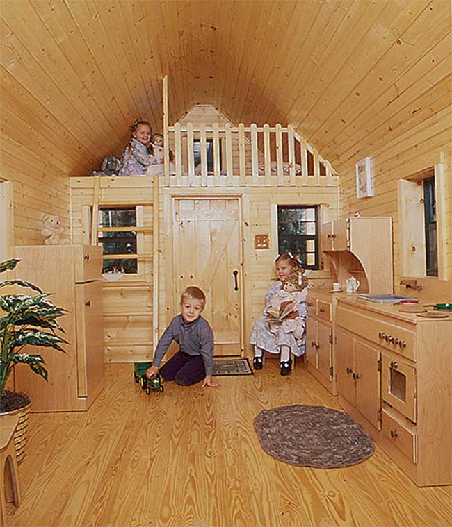 Mr shed playhouses for Playhouse ideas inside
