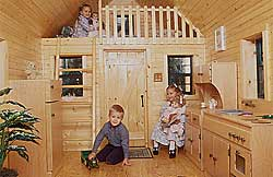 Interior with children playing