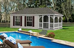 Vinyl Hip style pool house