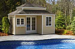 12' x 16' Hip style pool house