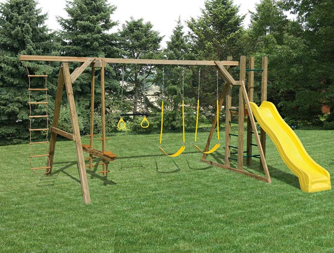 Mr Shed Wood Swing Sets