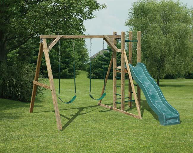 mr shed wood swing sets. Black Bedroom Furniture Sets. Home Design Ideas